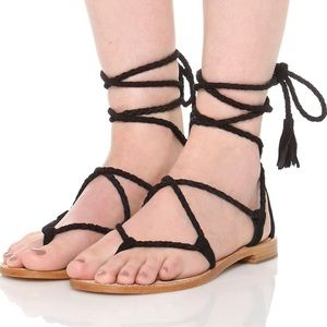 Joie Bailee black gladiator sandals size 10